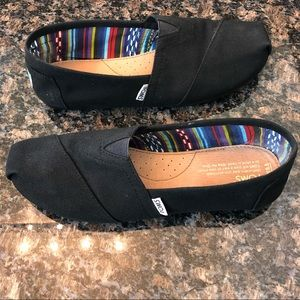 Toms Black On Black Women's Canvas Classics